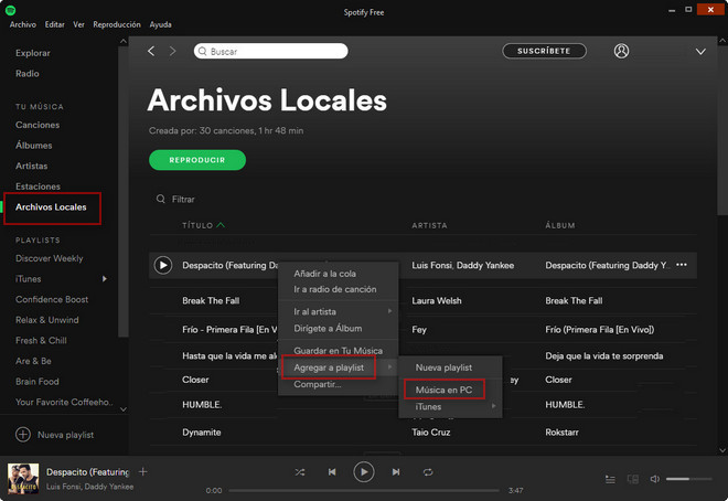Add local music to playlist