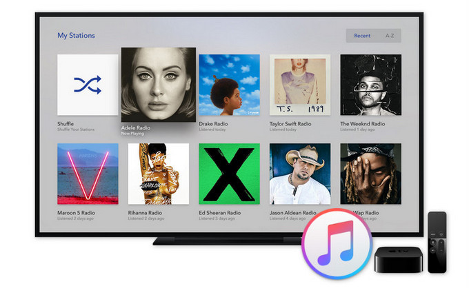 reproducir apple music en apple tv