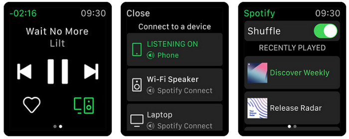 empezar a usar spotify en apple watch